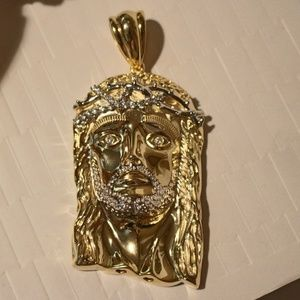ICED OUT 14k Electroplated XL Jesus Head